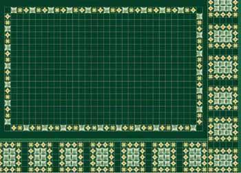 Green Panel Tile Wallpaper