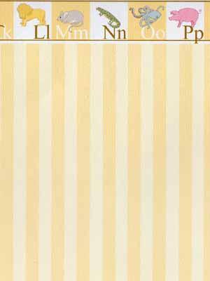 Yellow Stripe Nursery wallpaper