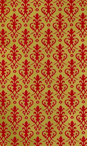 25 Victorian Gold & Red