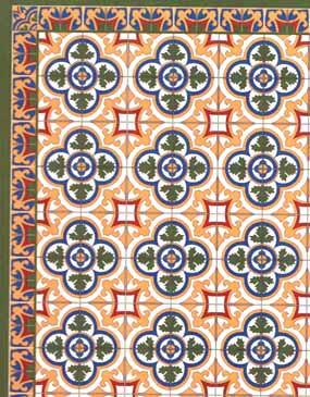 Victorian Tile Floor Large Sheet