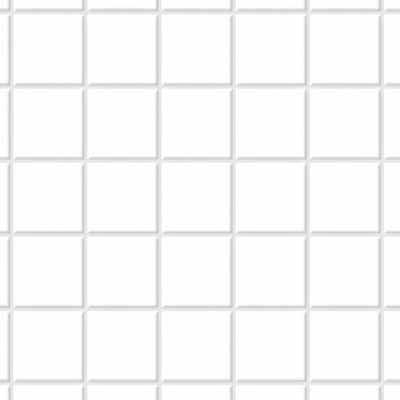 White Square Floor Tile - Lightly Embossed